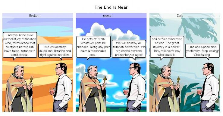 Dada cartoon: End Is Near