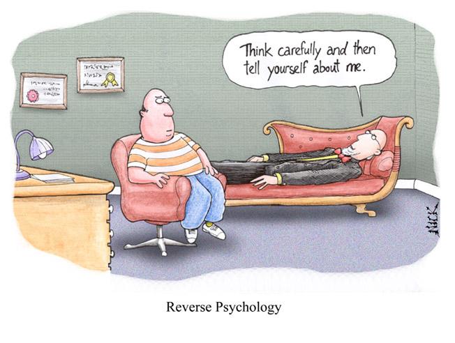 teaching cartoon - reverse psychology
