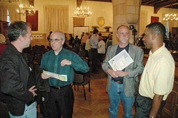 Ken and I in 2009 investigating. (Lakewood Observer photo)