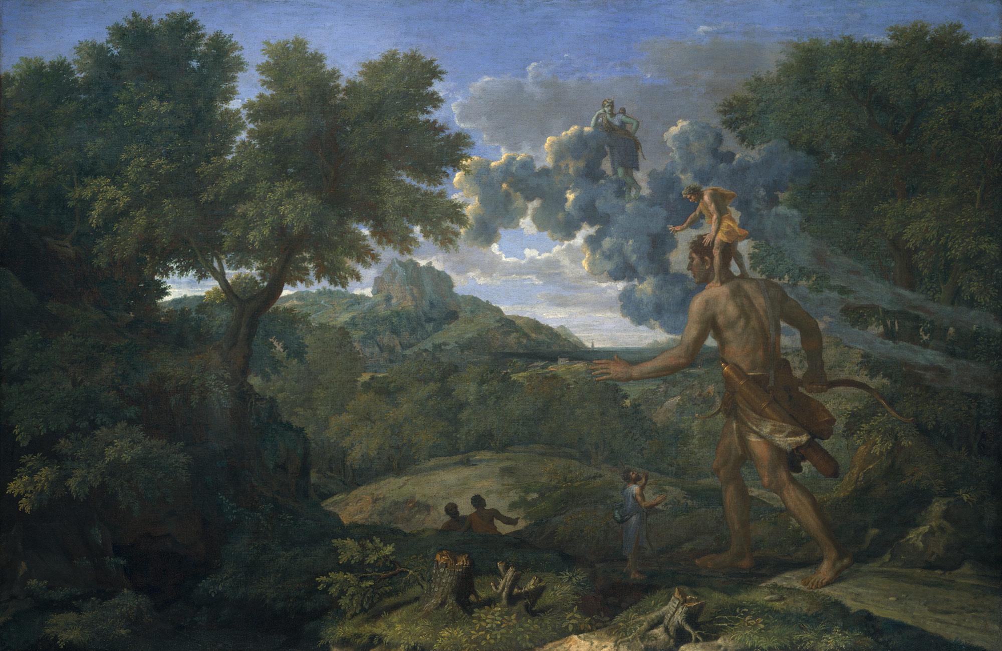 Paysage avec Orion aveugle cherchant le soleil - Nicolas Poussin -  1658