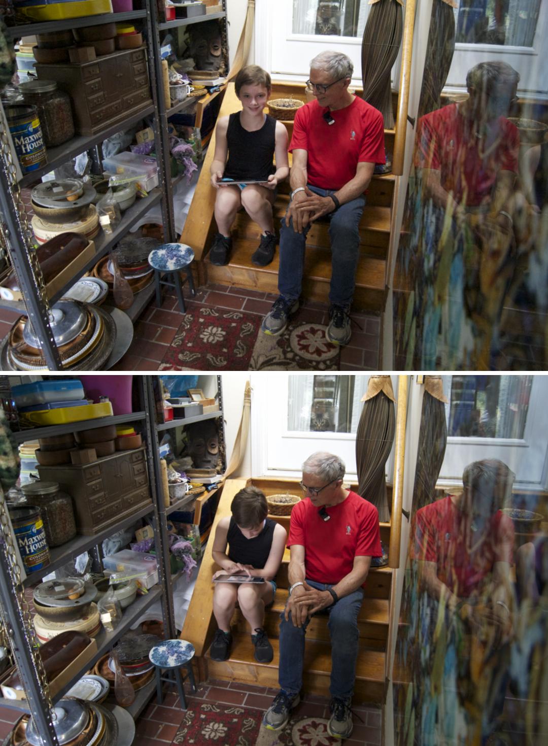 Artist Stephen Calhoun's studio