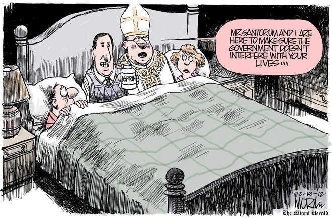 Santorum and Bishop
