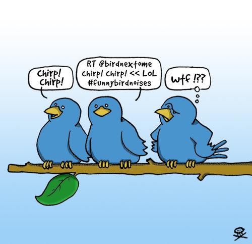 Twitter Blue Birds