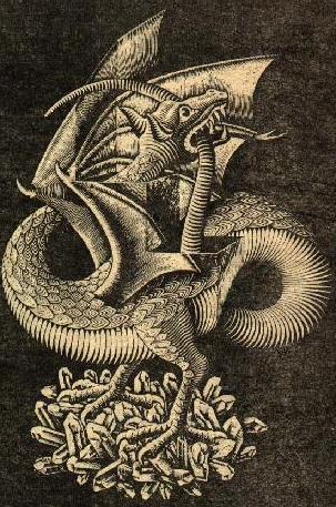 Escher uroboros