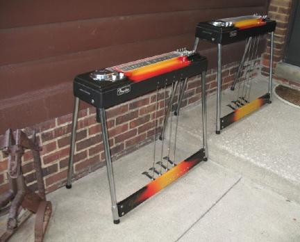 2 identical Fender 400 pedal steel