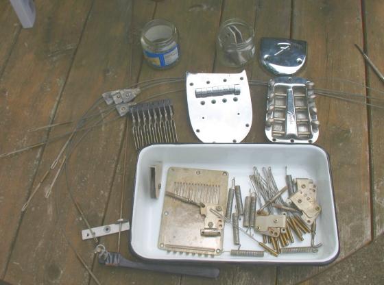 Fender 400 pedal steel guitar - parts